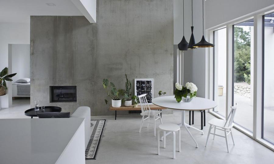 Cemento a vista su pareti e pavimenti