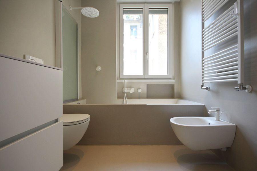 cemento resina in bagno
