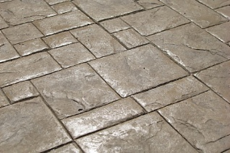 Foto cemento stampato ardesia di campaniastone srl - Pavimento esterno cemento stampato prezzi ...