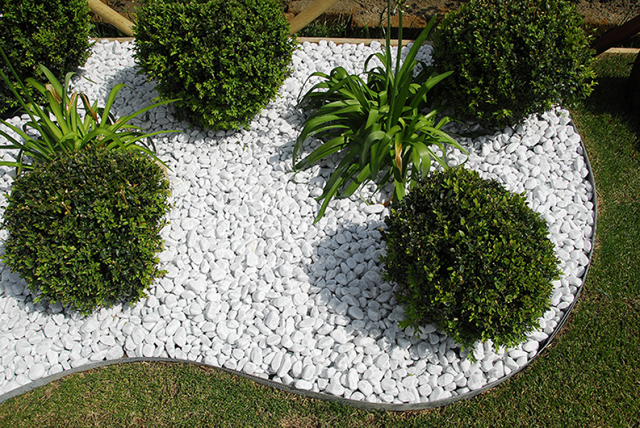 Foto cespugli con sassi di carrara di daniele fabio for Sassi per bordure giardino