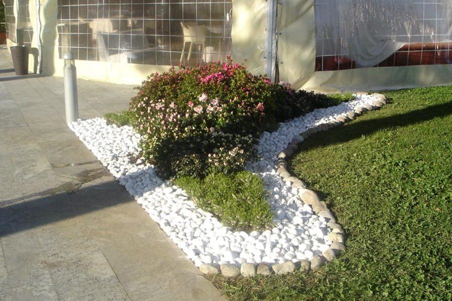 ciottoli e graniglia per giardini ornamentale