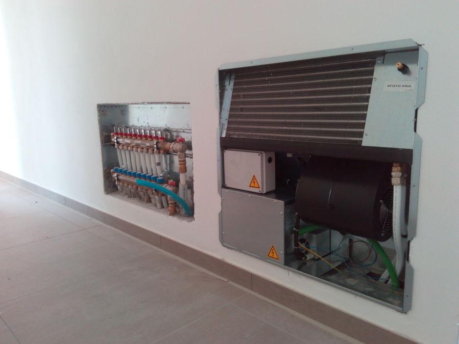 collettore impianto a pavimento e deumidificatore per climatizzazione estica