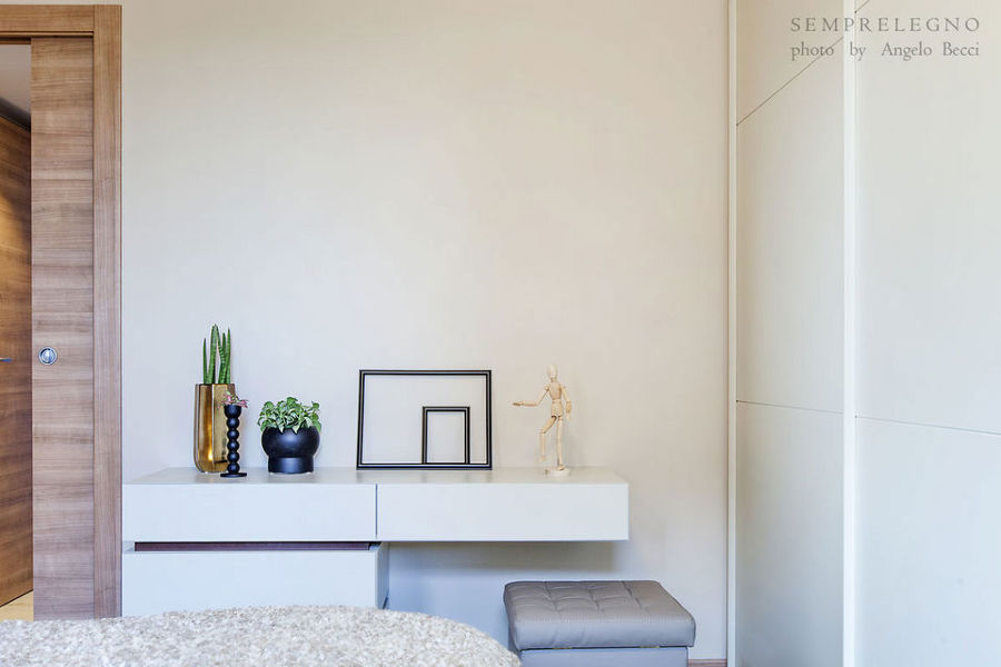 Soggiorno design con cucina a vista e camera da letto - Complementi d arredo camera da letto ...