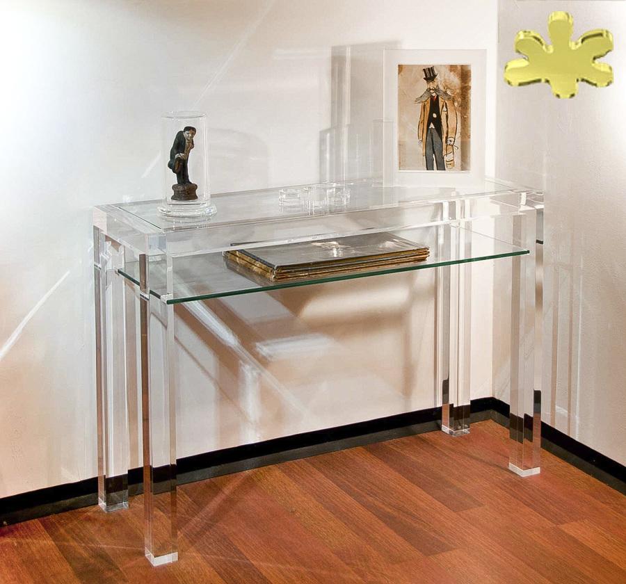 Consolle moderne con ripiano in plexiglass idee interior for Consolle moderna