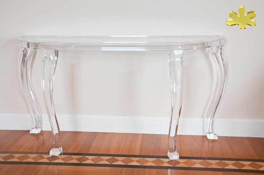 Consolle classiche e mobili ingresso in plexiglass idee - Mobili in plexiglass ...