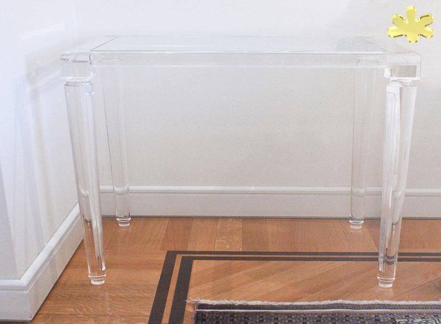 consolle classiche e mobili ingresso in plexiglass idee