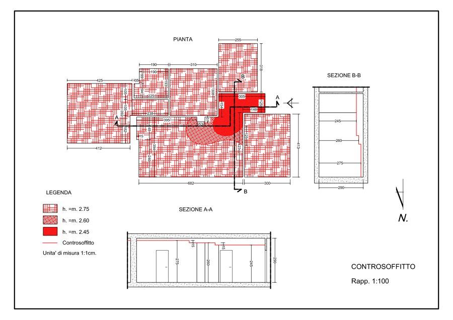 controsoffitto 1 - progetto del controsoffitto in cartongesso
