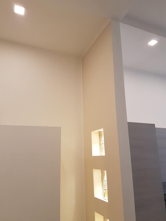 controsoffitto e parete in cartongesso