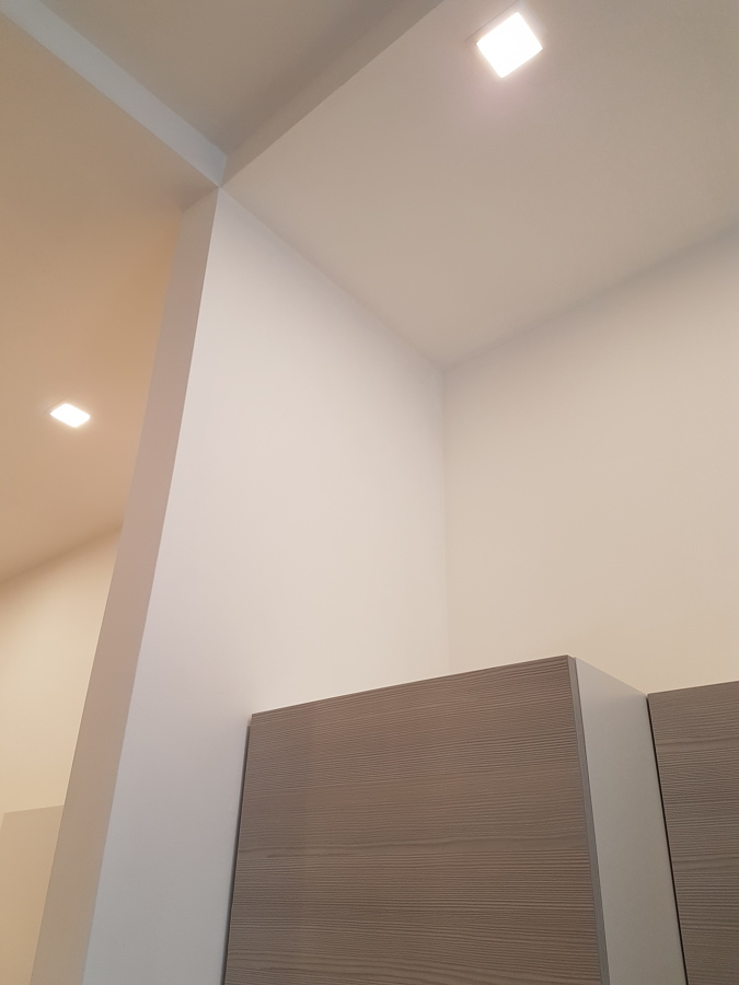 controsoffitto in cartongesso con pannello strip led