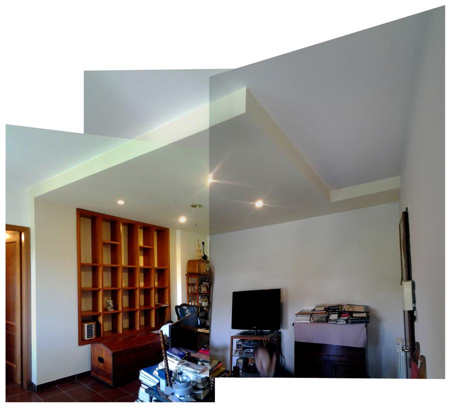 Foto controsoffitto tinteggiato del soggiorno di arch for Controsoffitto soggiorno