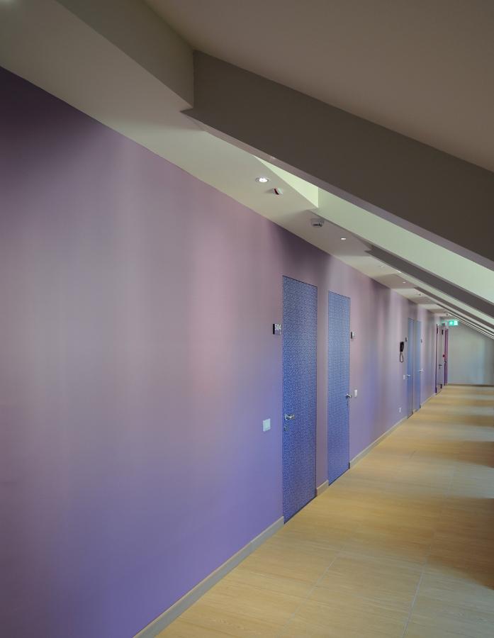 Corridoio camere sottotetto recuperato