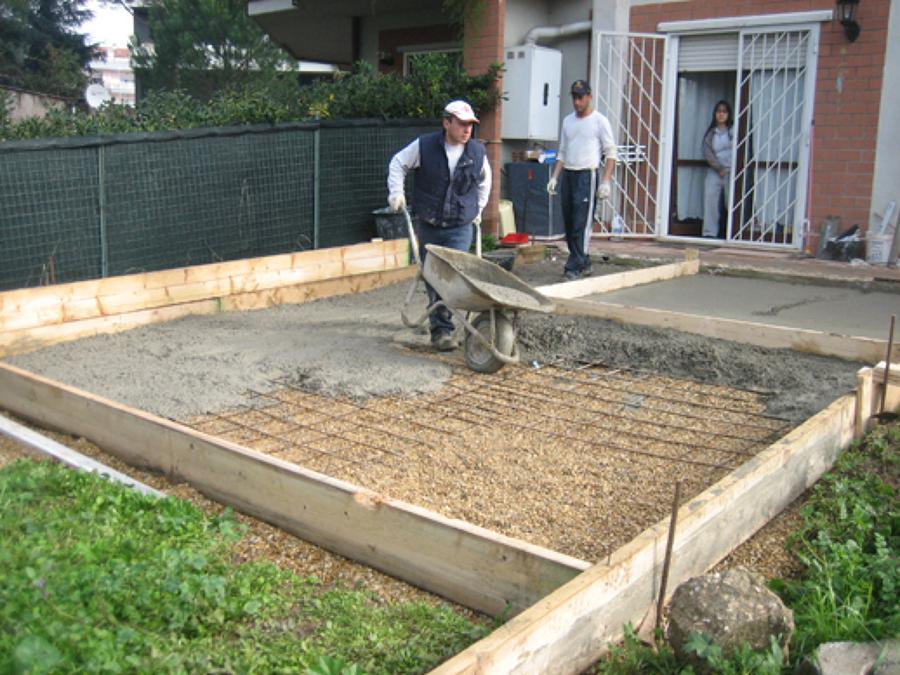 Costruzione della soletta di cemento