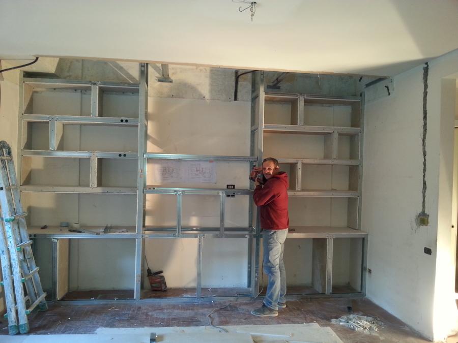 Foto costruzione struttura parete in cartongesso di zullo srl 409371 habitissimo - Parete attrezzata in cartongesso costo ...