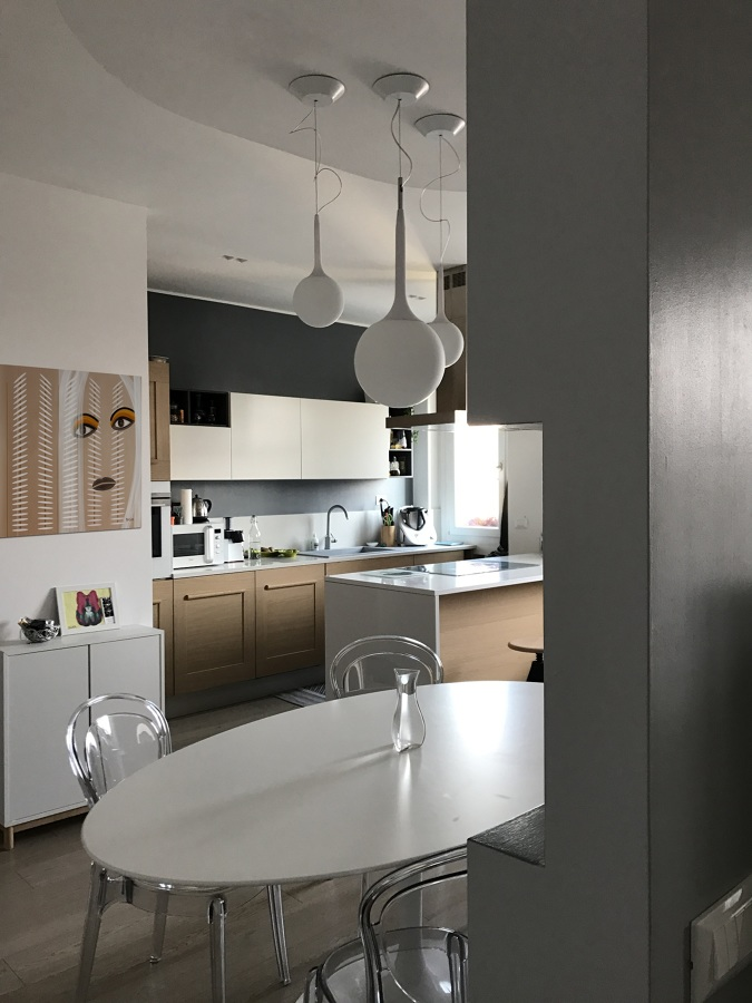 Cucina a isola in Open Space
