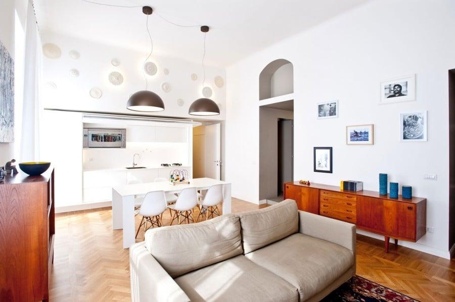 Foto cucina a vista sul salotto di rossella cristofaro for Immagini di appartamenti ristrutturati