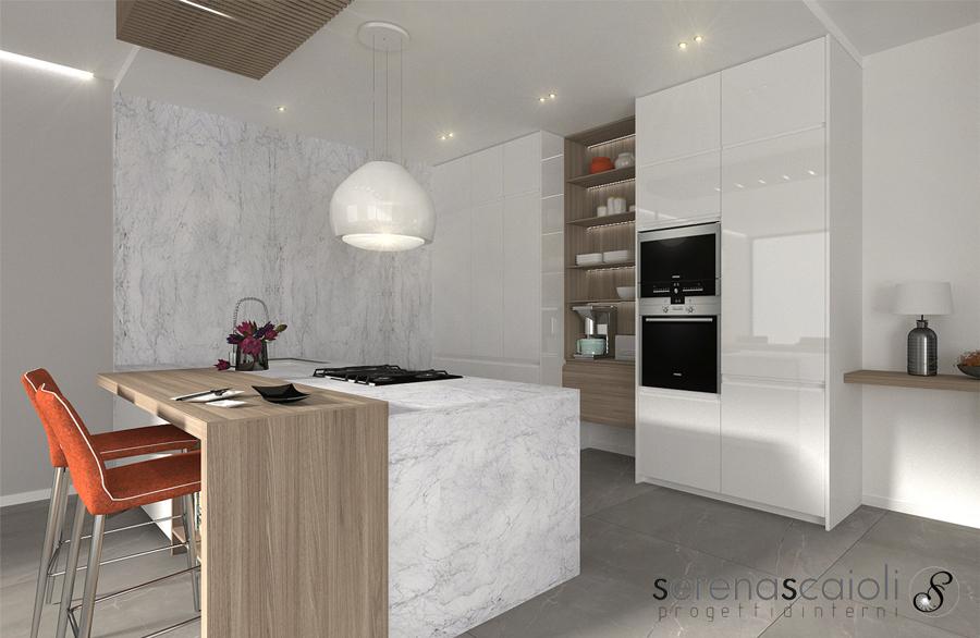 Foto Cucina Bianca Con Marmo E Legno Di Serena Scaioli 789529 Habitissimo