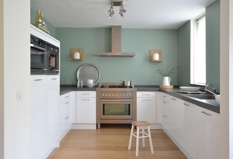 Pareti Cucina Bianca : Foto cucina bianca con pareti verdi di rossella