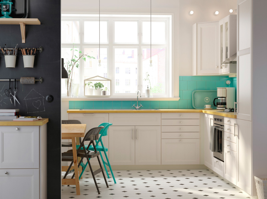 Foto: Cucina Bianca e Verde Acqua De Marilisa Dones #355924 ...