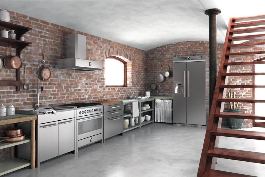 La cucina in acciaio libera lo chef che in te idee ristrutturazione cucine - Cucine in acciaio per casa ...