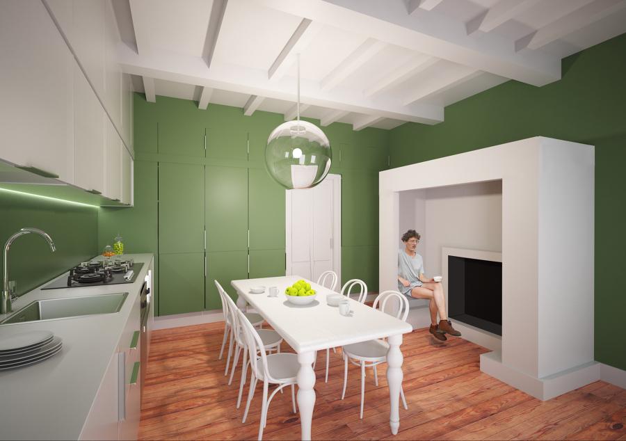 Foto: Cucina con Camino Abitabile ! di Arch. Francesco Antoniazza ...