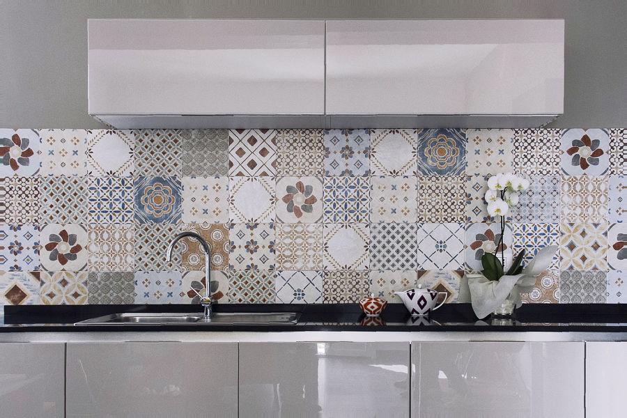 Casa lo fi tra tradizione e contemporaneit idee - Cementine cucina ...