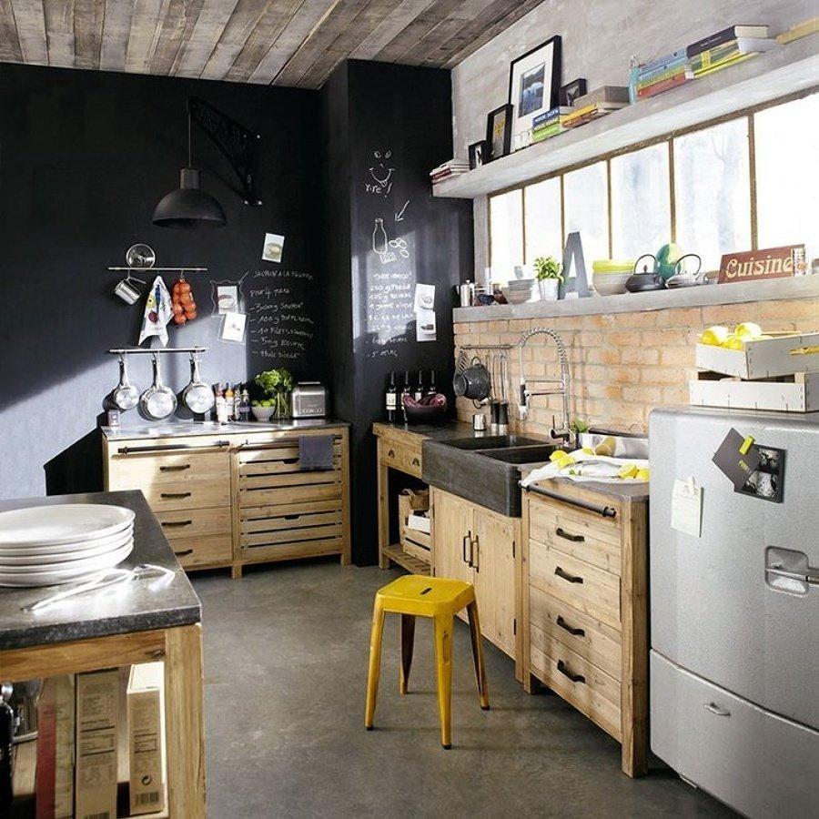 Foto cucina con lavagna di valeria del treste 326174 - Parete lavagna cucina ...