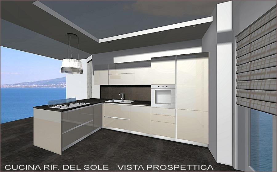 Progetto Arredamento Cucina con Vista Mare | Idee Mobili