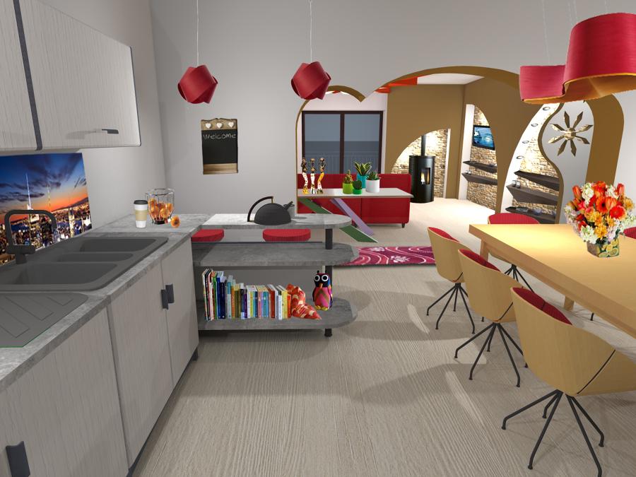 Foto: Cucina con Vista Sala di Studio Tecnico Ing. Francesco ...