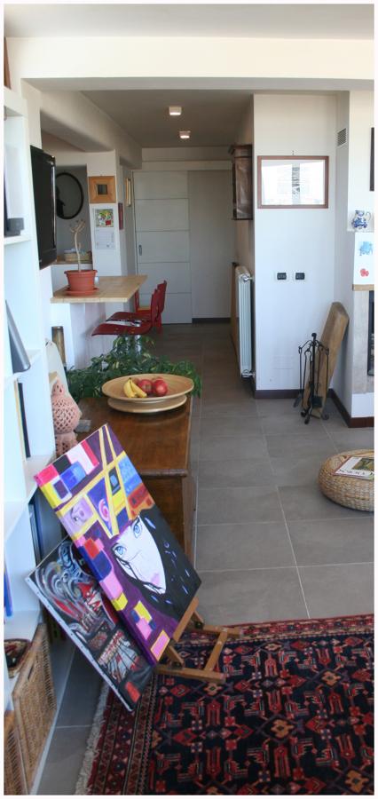 Cucina, corridoio e sala da pranzo