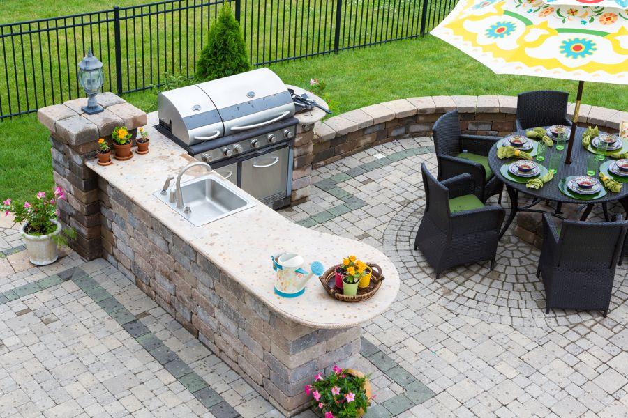 cucina e barbecue outdoor