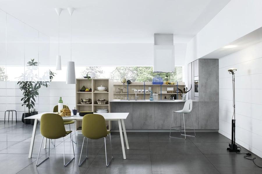 Foto cucina in laminato effetto cemento di rossella - Mobili urban chic ...