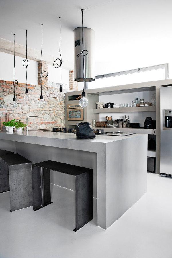 Cucina in muratura 10 idee per un grande classico d - Struttura cucina in muratura ...