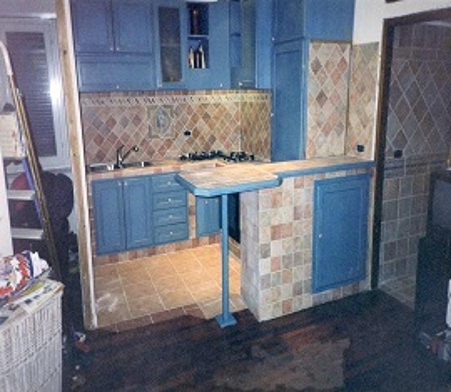 Top Cucina In Muratura e In Frassino Mordensato Color Jeans | Idee  OX26