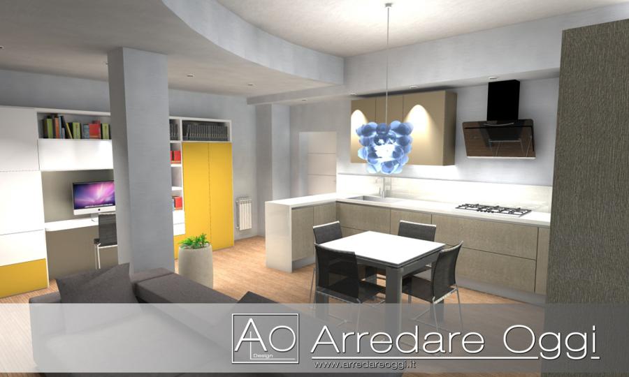 Soggiorno Living Con Cucina: Apartment blueprint living doughty ...