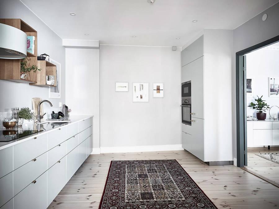 Cucina moderna grigio chiaro