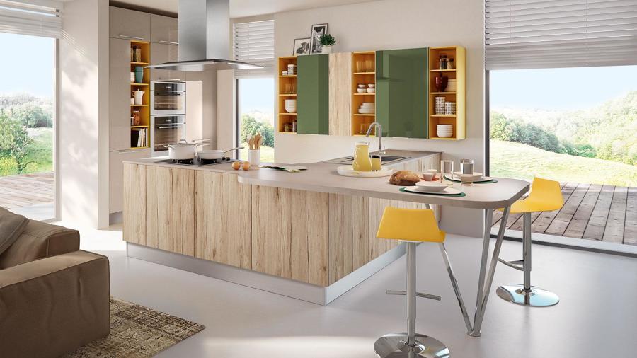 cucina open space con isola