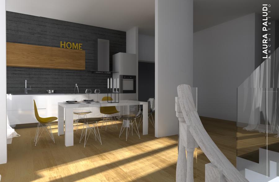 Foto cucina pensili in legno di rovere naturale e - Cucina bianca e legno naturale ...