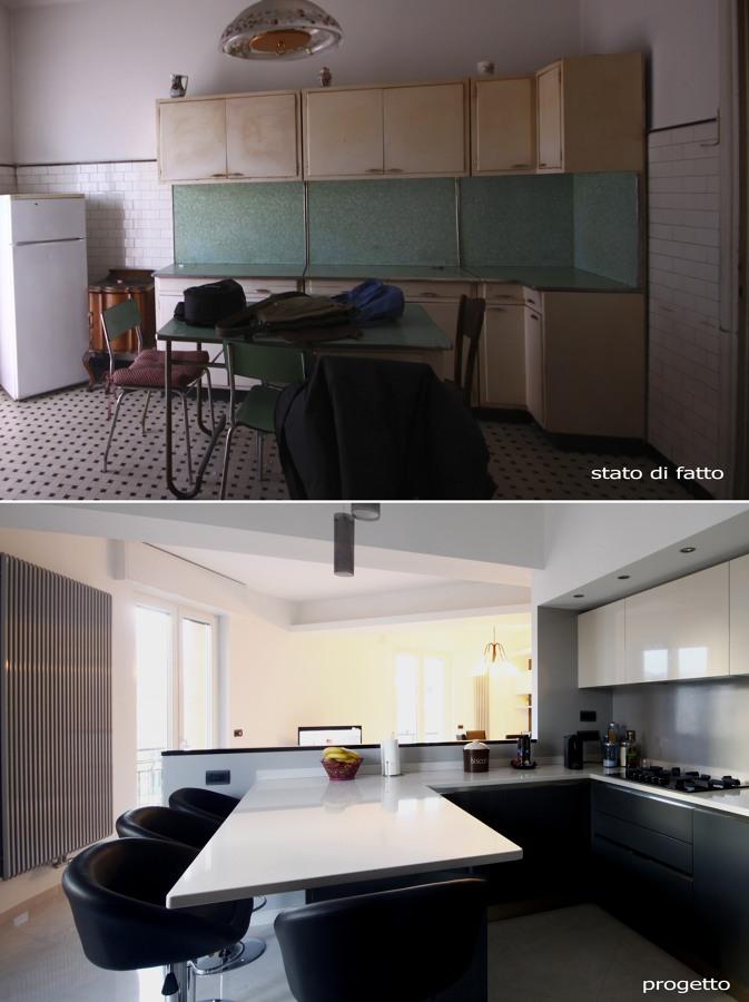 cucina prima e dopo