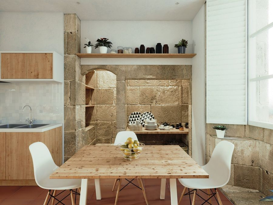 cucina rustica in pietra