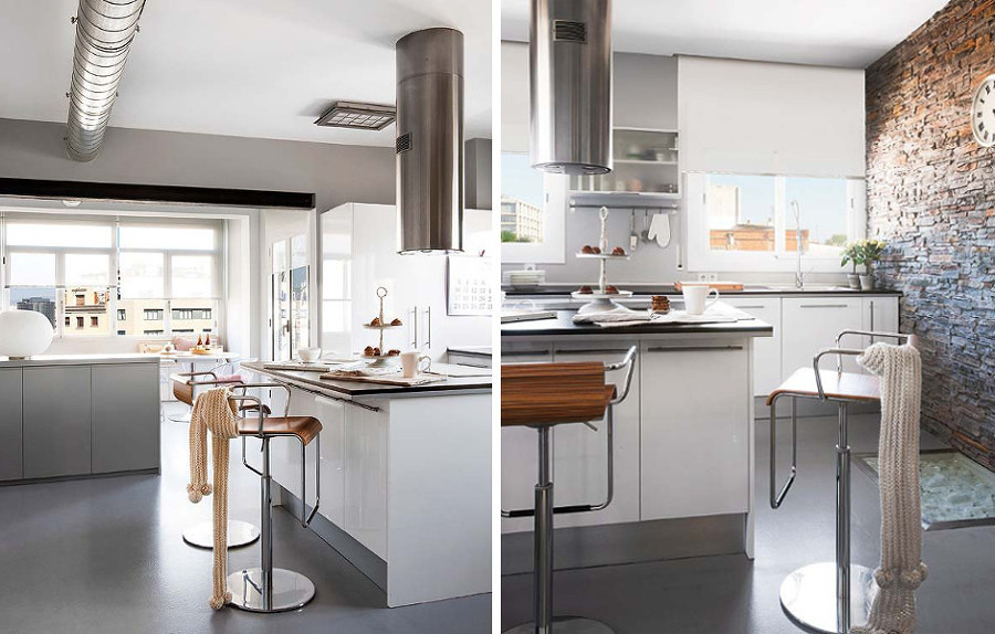 Cucine componibili stile industriale idee per il design - Cucine stile industriale vintage ...