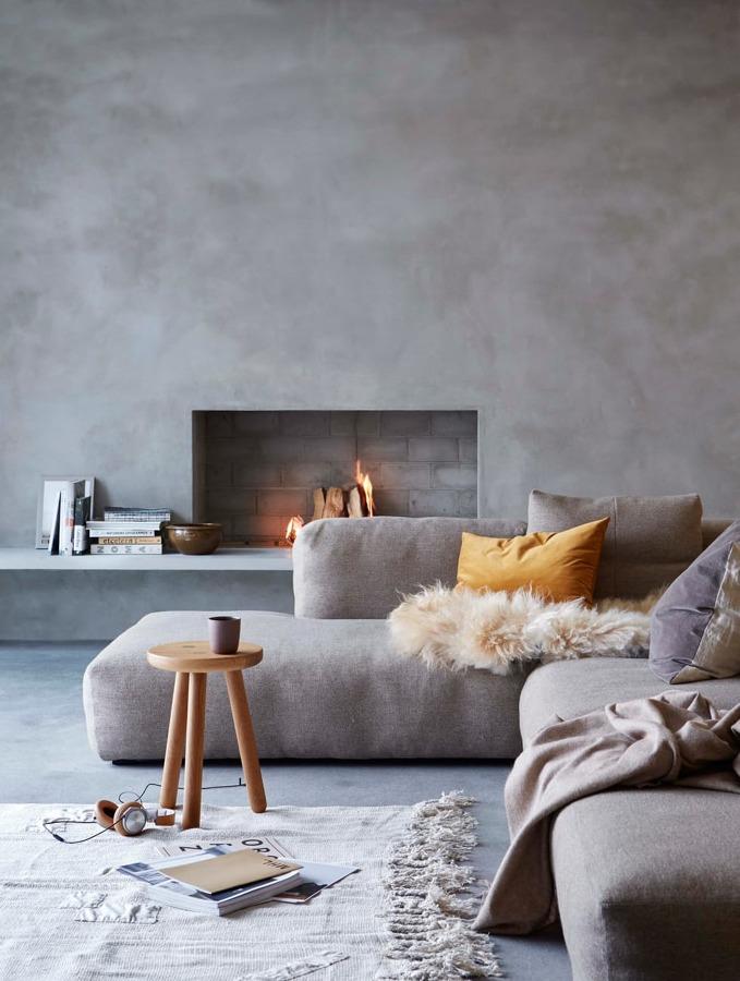 Decorare casa con effetto cemento