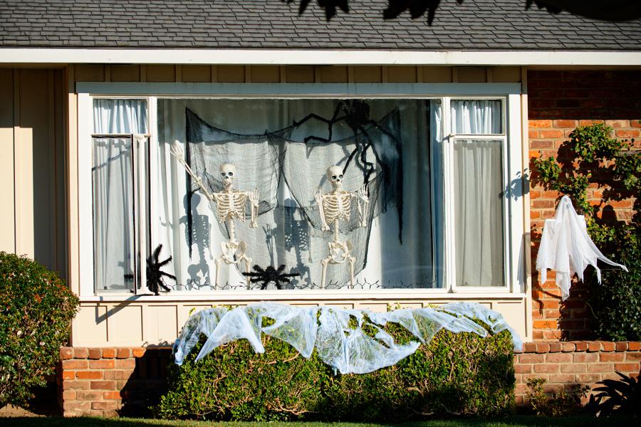 decorazione finestra halloween