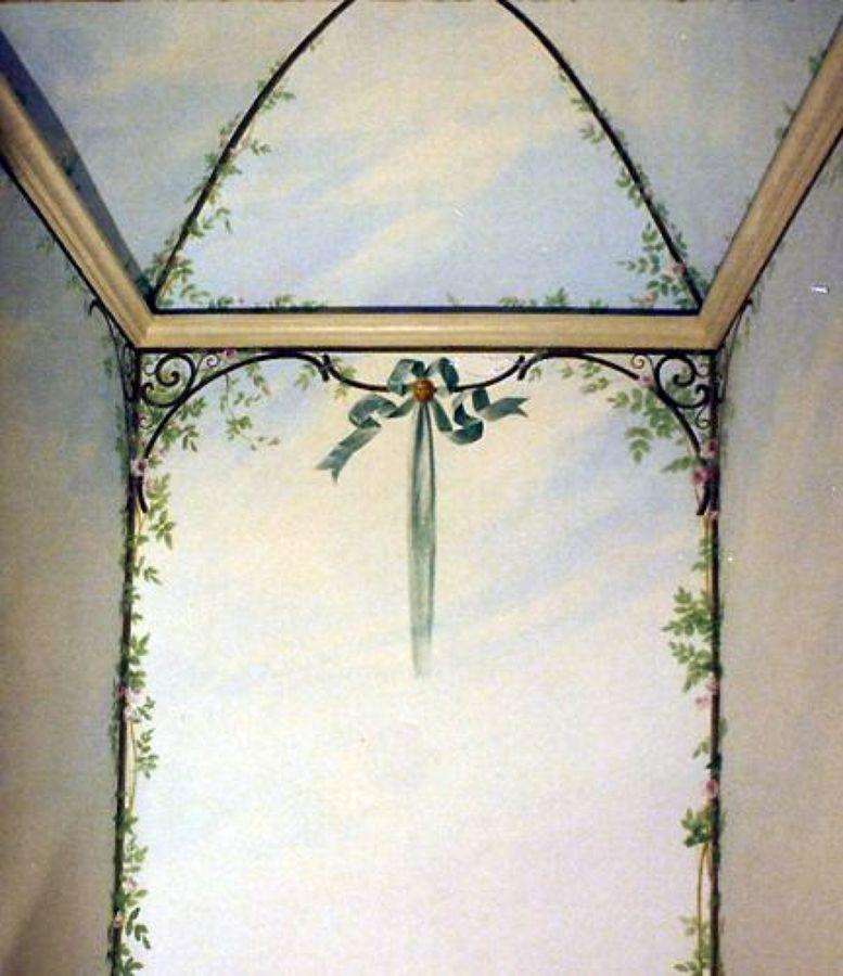 Foto decorazione pittorica bagno pareti e soffitto di - Decori per bagno ...