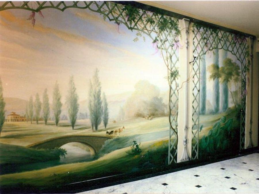 Foto: decorazione pittorica parete di ruffini decorazioni #84159 ...