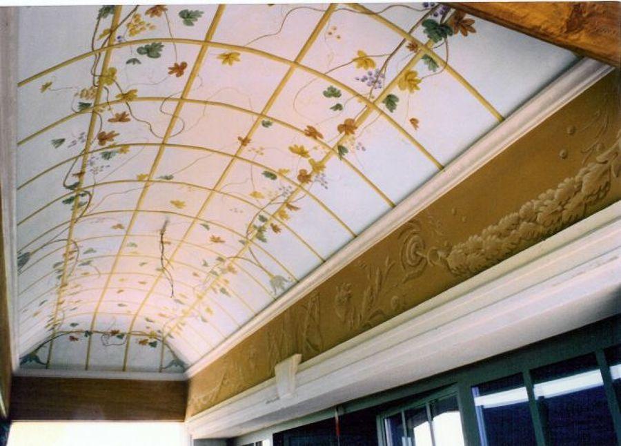 Soffitto A Volta Affrescato : Foto: decorazione pittorica soffitto a volta in esterno di ruffini