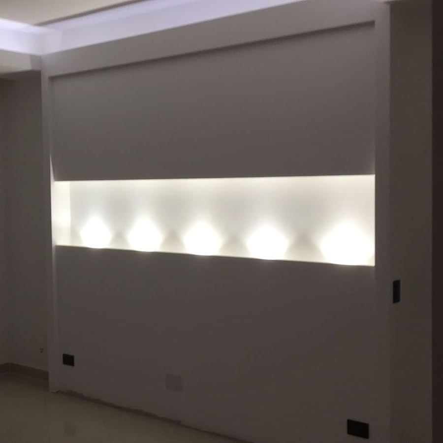 Camera da letto idee costruzione case prefabbricate - Testata letto cartongesso ...