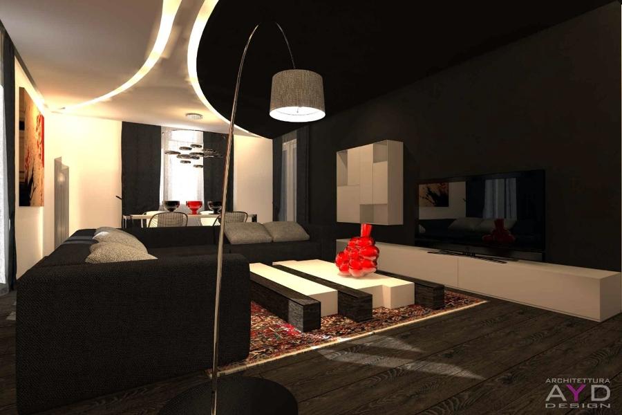Progetto Design Soggiorno Minimal | Idee Ristrutturazione Casa