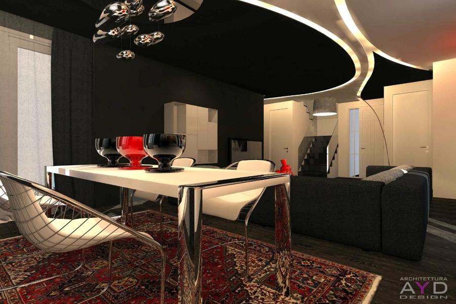 Progetto design soggiorno minimal idee ristrutturazione casa for Progetti case moderne interni