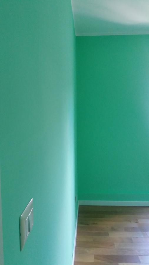 Dettaglio della cameretta verde