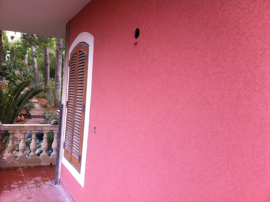 Dettaglio della finitura della facciata